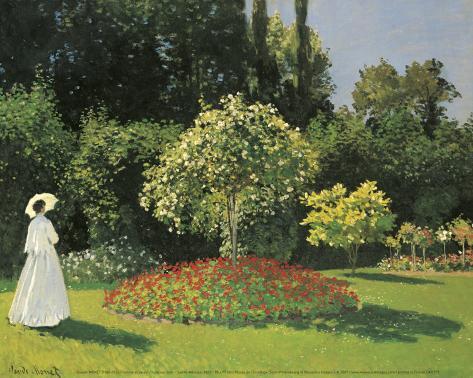 Woman in the Garden Lámina