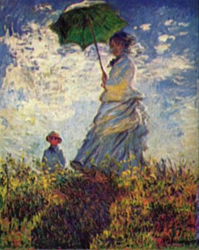 Claude Monet (Woman with a Parasol, 1875) Art Poster Print Masterprint
