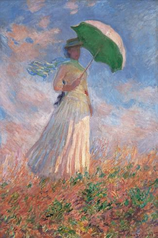 Woman with a Parasol Turned to the Right Lámina