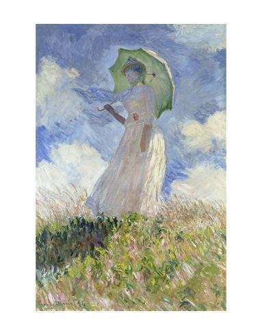 Woman with Parasol Art Print