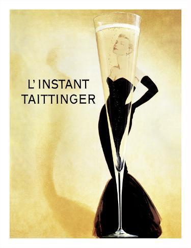 L'Instant Taittinger (The Taittinger Moment) - Champagne Advertisement - Grace Kelly Giclee Print