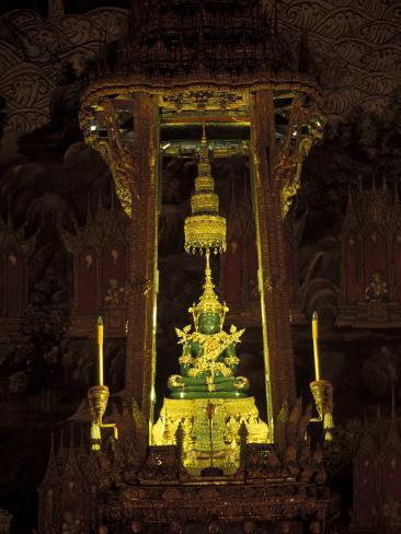 Emerald Buddha at the Grand Palace, Bangkok, Thailand Photographic Print