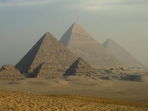 Giza Pyramids Complex, Egypt Photographic Print