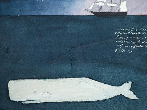 Moby Dick Lámina giclée