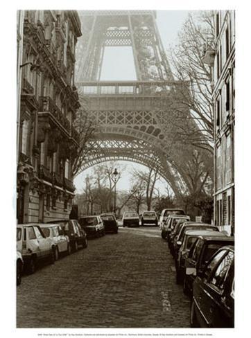 Street View of La Tour Eiffel Art Print