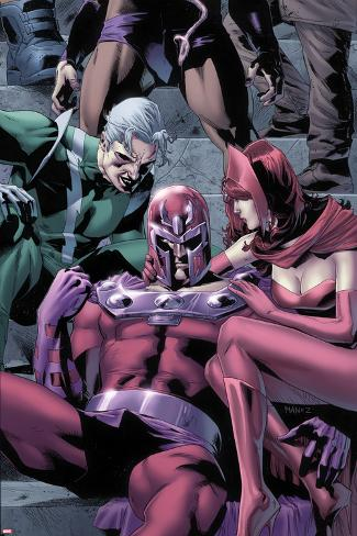 Magnetro: Not a Hero No.2 Cover: Magneto, Scarlet Witch, and Quicksilver Sitting Poster