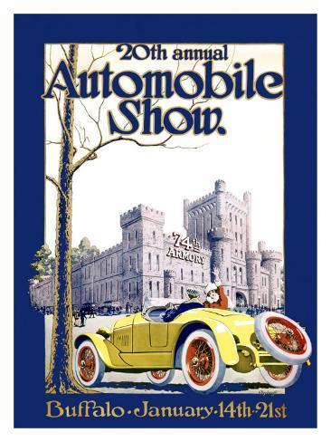 Automobile Show, Buffalo Giclee Print