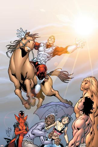 Alpha Flight No.5 Cover: Major Mapleleaf and Alpha Flight Poster