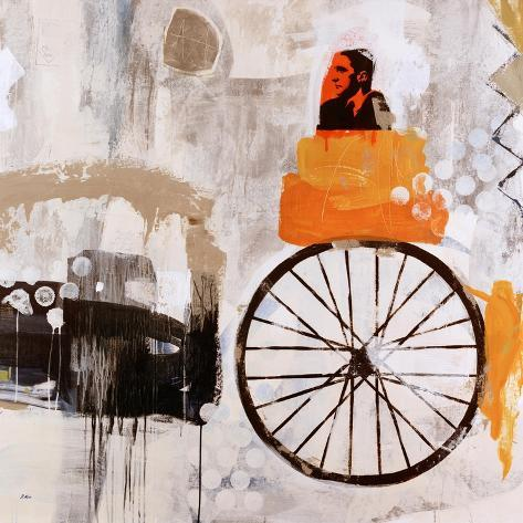 Riding with Marcel Stampa giclée