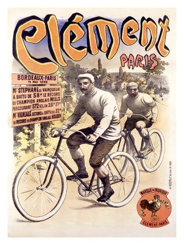 Clement Cycle, Bordeaux to Paris Giclee Print