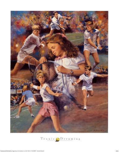 Tennis Dreaming Art Print