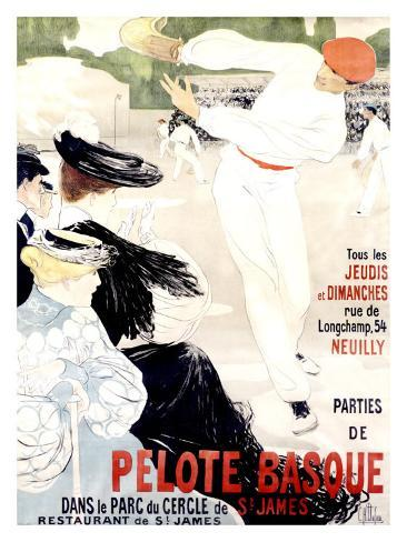 Pelote Basque Giclee Print