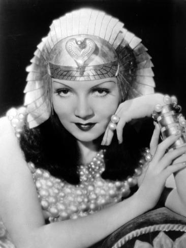 Cleopatra, Claudette Colbert, 1934 Photo