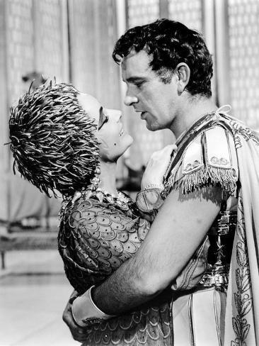 Cleopatra, Elizabeth Taylor, Richard Burton, 1963 Fotografia