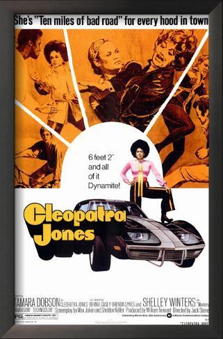 Cleópatra Jones Impressão artística emoldurada