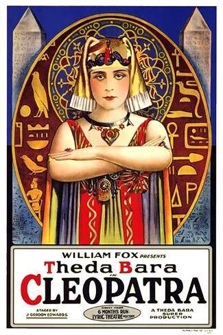 Cleopatra Movie Theda Bara Impressão artística