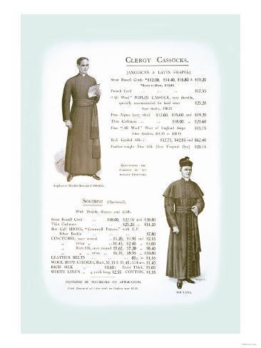 Clergy Cassocks Art Print