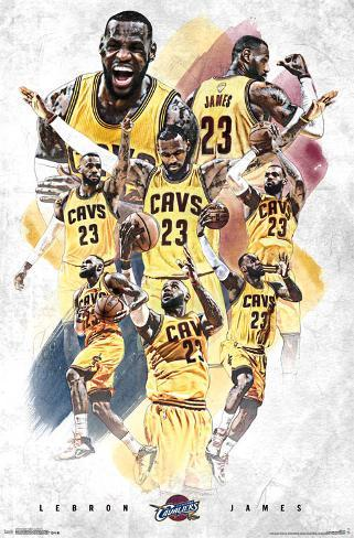 Cleveland Cavaliers - Lebron James 15 Pôster