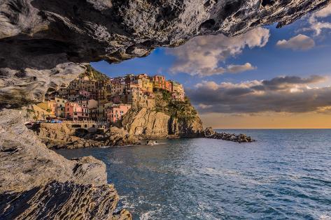 Manarola, Cinque Terre, Liguria, Italy Valokuvavedos