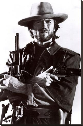 Clint Eastwood Impressão em tela esticada