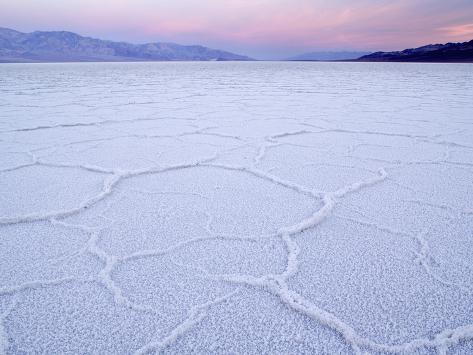 Salt Flats at Badwater, Death Valley National Park, California Photographic Print