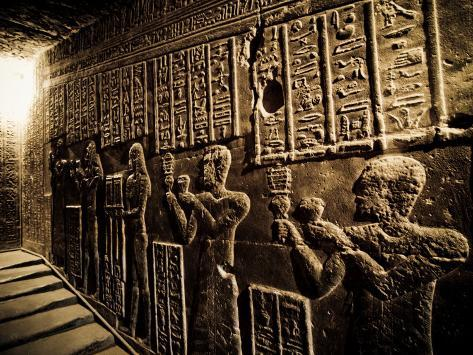 Tunnels at the Temple of Dendera, Egypt Photographic Print