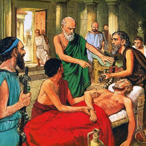 Hippocrates Discouraging the Use of Primitive Medical Techniques Giclee Print