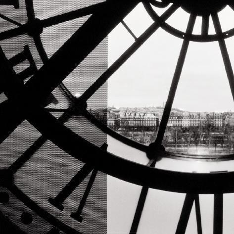 Clock Musée d'Orsay II Art Print