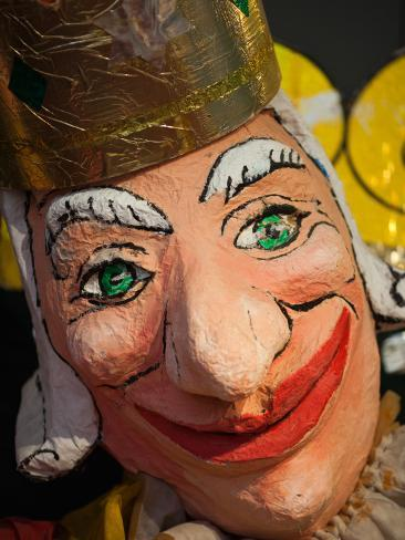 Close-Up of a Clown Mask, Museo Del Carnaval, Montevideo, Uruguay Stretched Canvas Print