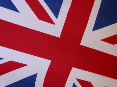 Close-Up of a Union Jack, Britian Photographic Print