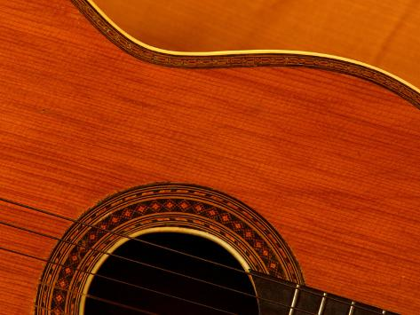 Close-up of Guitar Photographic Print