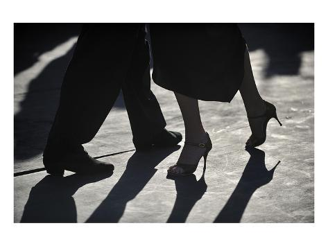 Close-Up Of Tango Dancers Stampa artistica