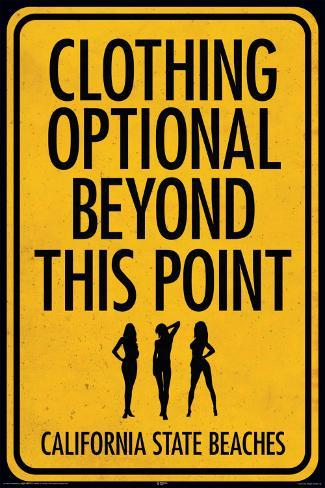 Clothing Optional Poster