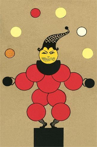 Clown Made of Circles Art Print