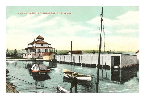 Club House, Traverse City, Michigan Art Print