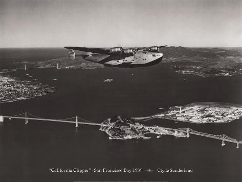 California Clipper, San Francisco Bay, California 1939 Wall Decal