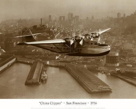 China Clipper, San Francisco, California, 1936 Art Print