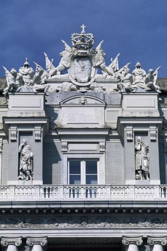 Coat of Arms of Genoa, Detail from Neo-Classical Facade, Doge's Palace in Piazza Matteotti Giclee Print