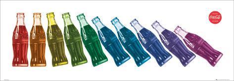 Coca Cola Bottles Falling Art Print