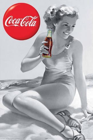 Coca Cola Girl Poster