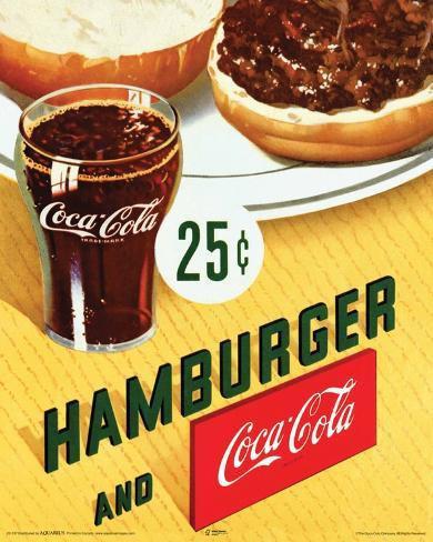 Coca Cola Hamburger Mini Poster
