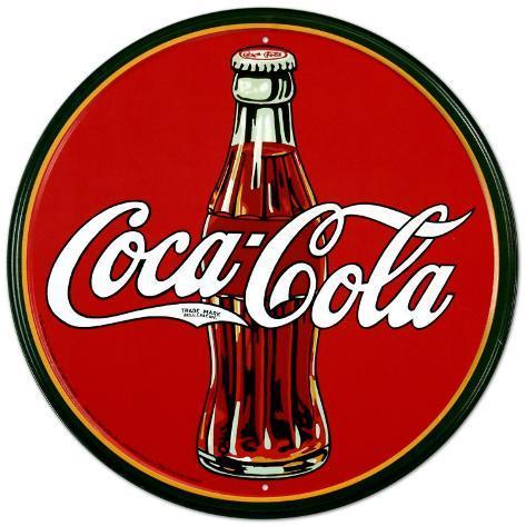 Coca Cola Plåtskylt