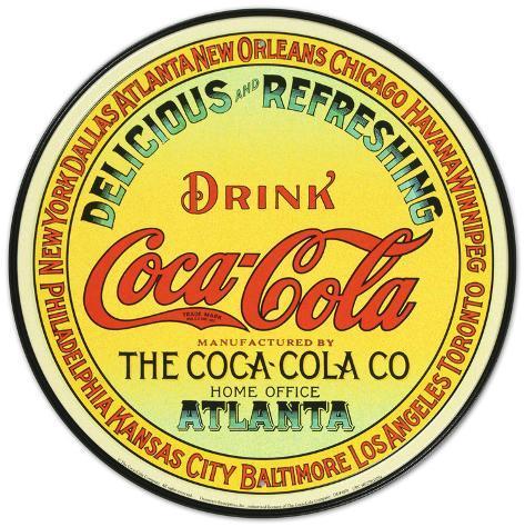Coca-Cola Plåtskylt