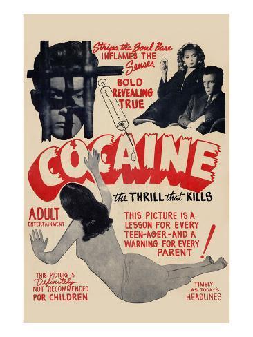 Cocaine: the Thrill the Kills Art Print