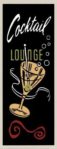 Cocktail Lounge Art Print