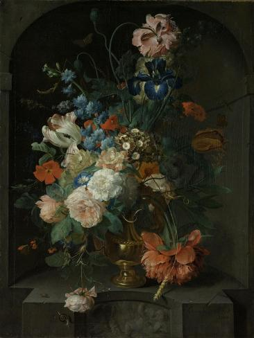 Still Life with Flowers, Coenraet Roepel. Art Print