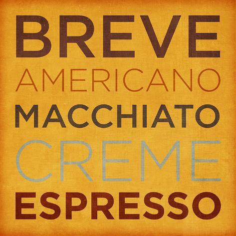 Coffee Type III Art Print