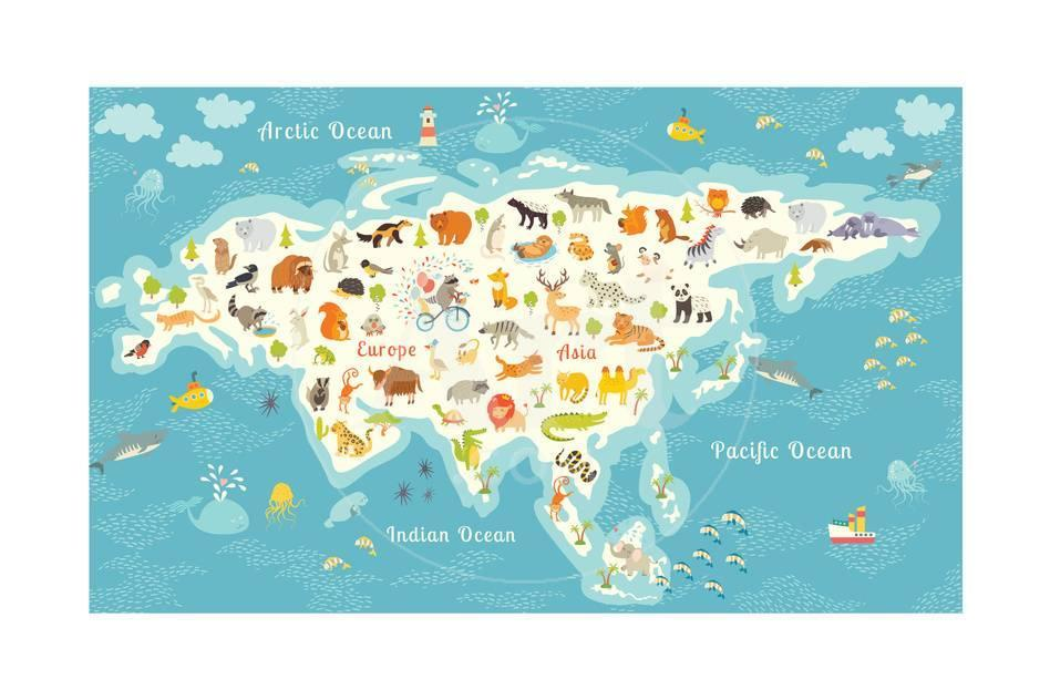 The most detailed animals world map eurasia also birds ocean life privacy preference centre gumiabroncs Choice Image