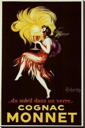 Cognac Monnet, noin 1927 Pingotettu canvasvedos