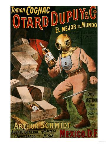Cognac Otard Dupuy & Co, circa 1910 Giclee Print